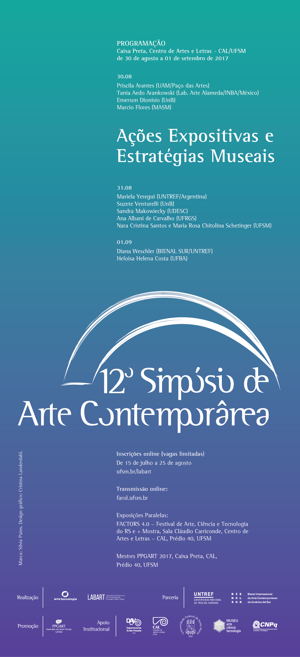 12 simposio de arte contemporanea2017 cartaz