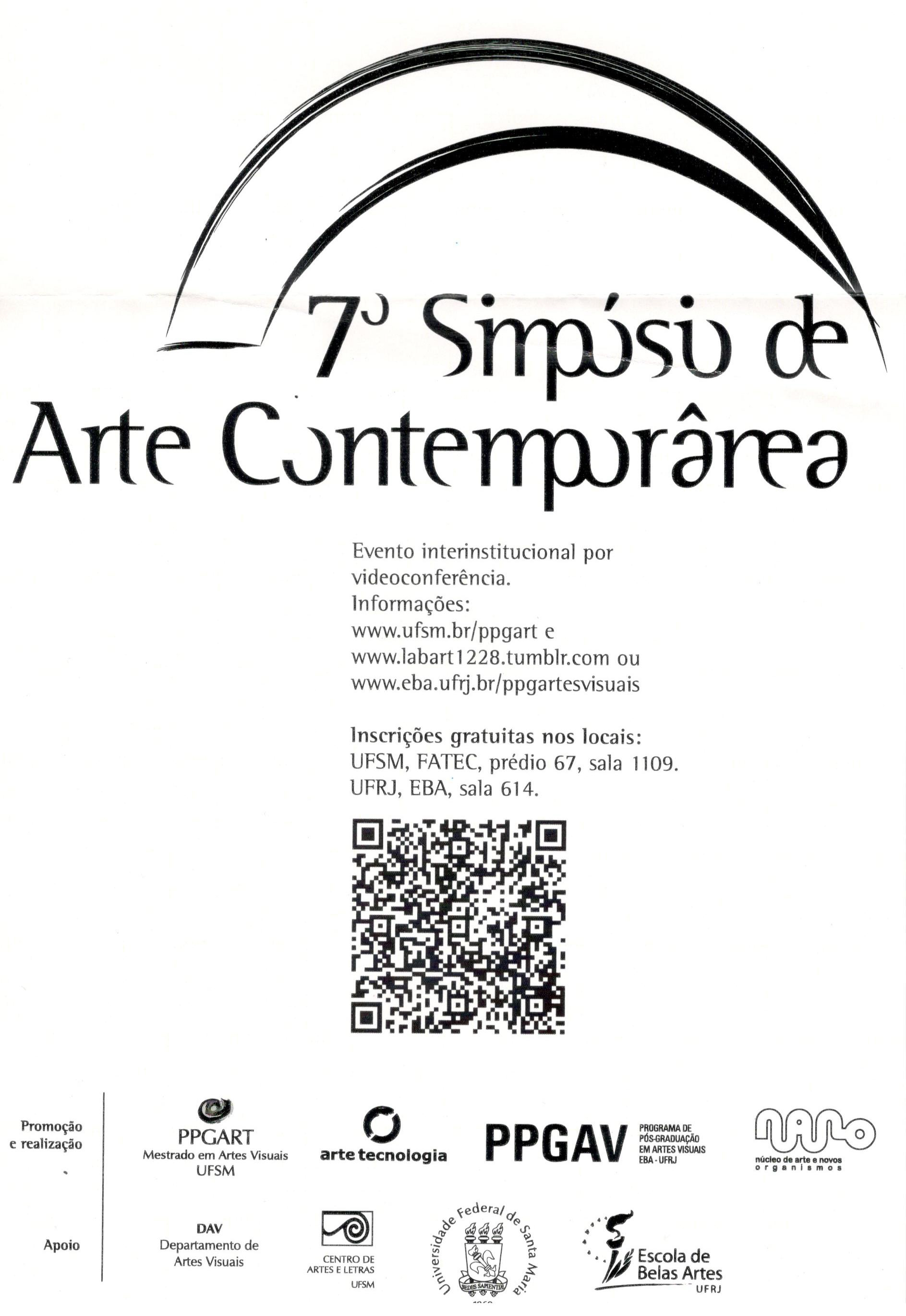 7 simposio de arte contemporanea 2012 2 flayer